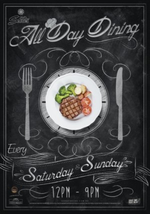 Saturday and Sunday All Day Dining