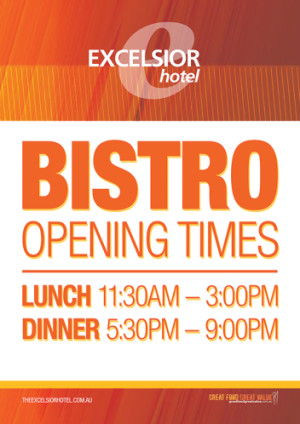 Bistro Opening Times