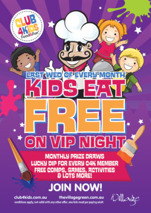Kids Eat Free on VIP Night