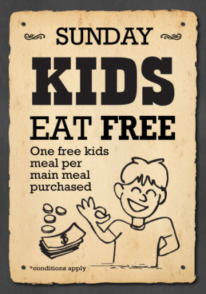 Sunday Kids Eat Free