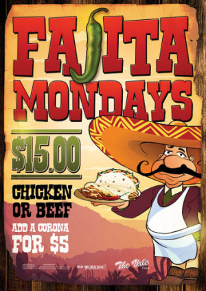 Mondays $15 Fajita