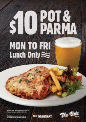 $10 Pot & Parma