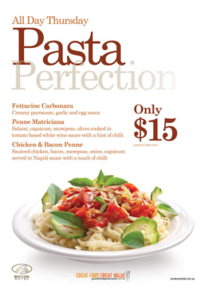 Thursday $15 Pasta