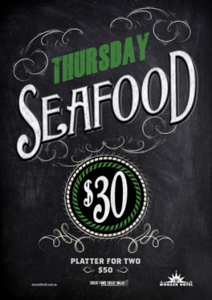 Thursday $30 Seafood Platter