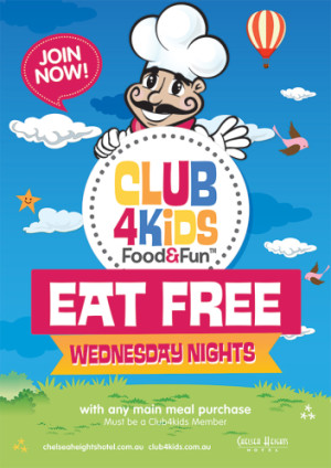 Wednesday Night Club 4 Kids Eat Free