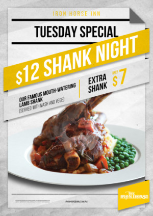 Tuesday $12 Shank Night